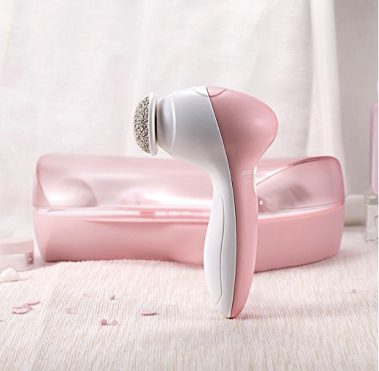 Electrical Beauty Instrument Facial Brush with Foot Care Set AE-8783