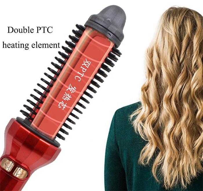 New Design Iron Hair Curler Brush Professional Heater Curling Brush Rechargeable Automatic Hair Curler AE-504