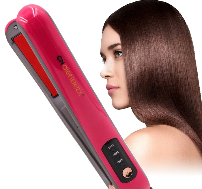 2in1 temperature control wireless straight hair clip ceramic electric splint USB charging hair straightener curler AE-507