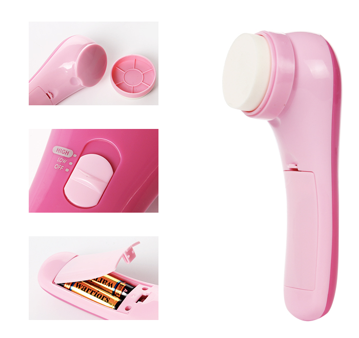 5-1 Hot Portable Vibrate Facial Massager for Face with makeup Brush AE-828