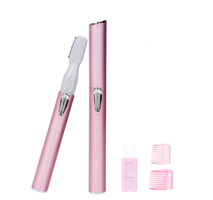 2020 hot sell style women Facial Hair Remover Facial Epilator Eyebrow Trimmer underarms hair removal AE-812 Pink